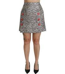 patroon a-lijn hoge taille rok
