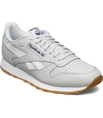 cl leather mu låga sneakers vit reebok classics