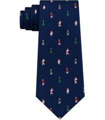 tommy hilfiger men's festive tree and polar bear tie