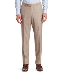collection flat-front trousers