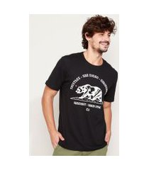"camiseta masculina san diego california"" manga curta gola careca preta"""