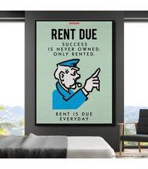 cuadro lienzo tayrona store monopoly - rent due