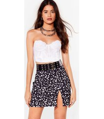 womens you've spot what it takes dalmation mini skirt - black