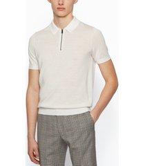 boss men's short-sleeved polo sweater