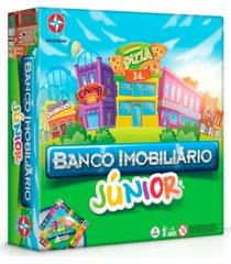 jogo de mesa banco imobiliã¡rio junior estrela 5+ - incolor - dafiti