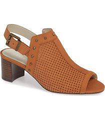 women's david tate pompei block heel sandal, size 5.5 m - brown