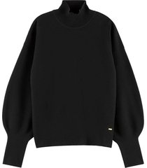 sweater high neck zwart