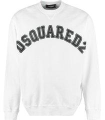 cotton crew-neck sweatshirt dsquared2