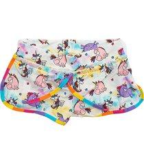 pantaloncino mare bimba stampa unicorni