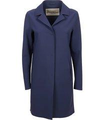 blue technical fabric coat