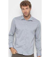 camisa manga longa forum smart masculina