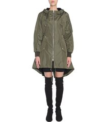 moschino parka with lace-up detail