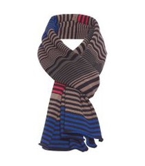 cachecol masculino mixed stripes - preto