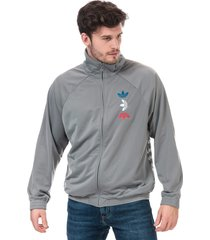 mens metallic track top