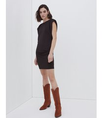 motivi vestito corto con spalline donna nero