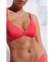 calzedonia graduated triangle swimsuit top indonesia eco woman pink size 5