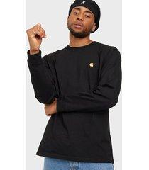 carhartt wip l/s chase t-shirt tröjor black