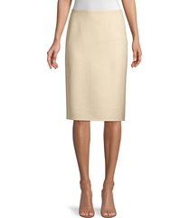 lafayette 148 new york women's claire cashmere & silk-blend pencil skirt - palomino alabaster - size 14