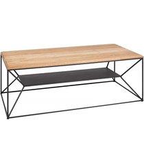 stolik kawowy architect drewno dębowe metal 110cm