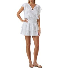 women's melissa odabash keri cover-up dress, size x-small - white