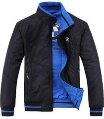 newest bmw double-sided wear casual jacket men spring autumn fashion coat