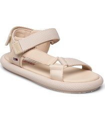 tommy jeans sporty sandal shoes summer shoes flat sandals beige tommy hilfiger
