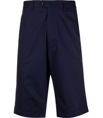 etro straight fit bermuda shorts - blue