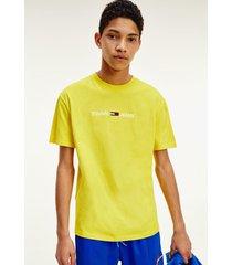 polera tjm straight logo amarillo tommy jeans