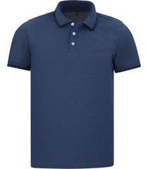 camiseta tipo polo azul petroleo hamer fondo entero
