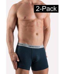 emporio armani boxer brief 2-pack blauw/grijs