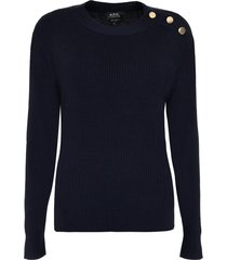 a.p.c. paola ribbed pullover