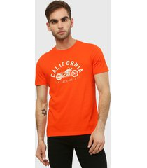 camiseta naranja-blanco gap