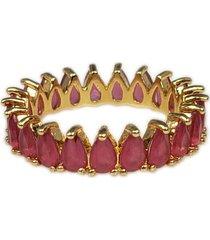 anel papillô joias navete rosa 20 em ouro 18k