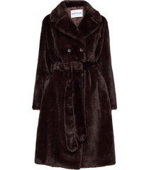 faustine coat outerwear faux fur brun stand studio