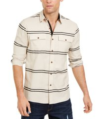 sun + stone men's ivan stripe shirt, created for macy's