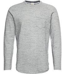 jcoozil tee ls crew neck . t-shirts long-sleeved vit jack & j s