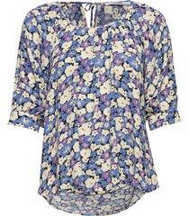 esmira blouse blouses short-sleeved multi/patroon lovechild 1979