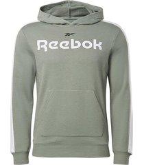 buzo training reebok essentials linear logo - verde-blanco