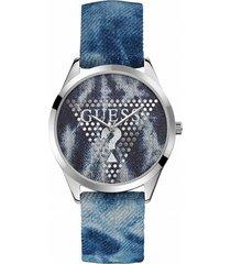 reloj análogo azul guess