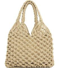 summer caged macrame hobo bag