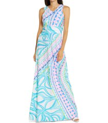 women's lilly pulitzer marco maxi dress, size x-large - blue