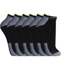 kit meia cano curto 3 pares neon