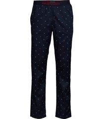 men's woven trousers mjukisbyxor blå emporio armani