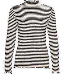 5x5 stripe mix trutte t-shirts & tops long-sleeved zwart mads nørgaard