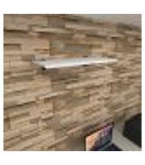 prateleira para escritório mdf suporte tucano cor branco 60(c)x30(p)cm modelo pratesb04