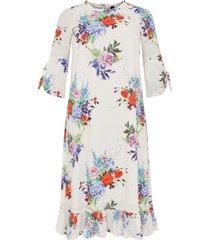 jurk met volantzoom bouquet