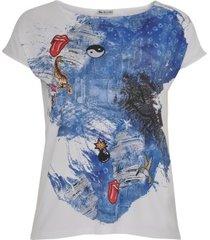 shirt met denim print