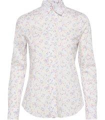 d1. multi floral stretch bc overhemd met lange mouwen wit gant