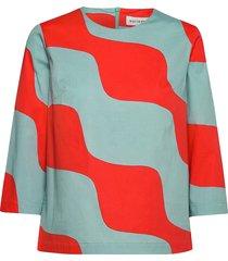 lauseke taifuuni blouse lange mouwen multi/patroon marimekko