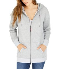 tommy jeans front-zip logo hoodie